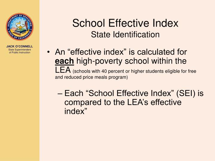 School Effective Index