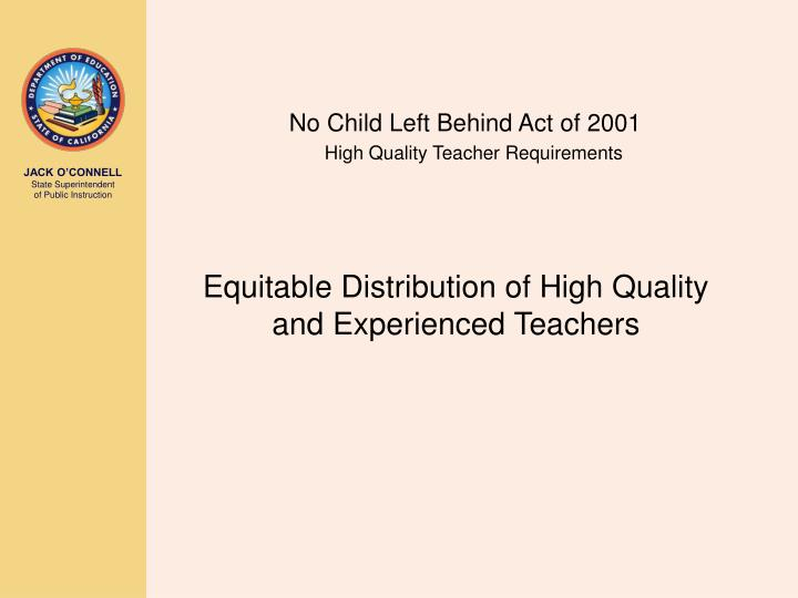 No Child Left Behind Act of 2001