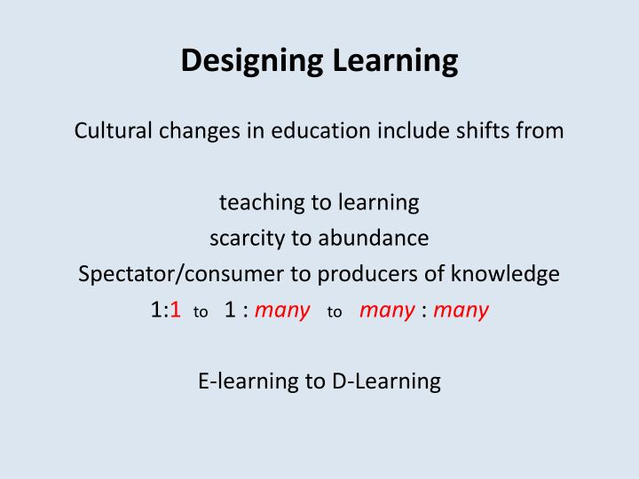Designing learning1