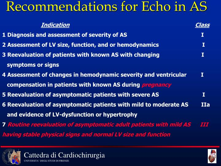 Recommendations for Echo in AS