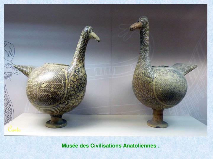 Musée des Civilisations Anatoliennes .