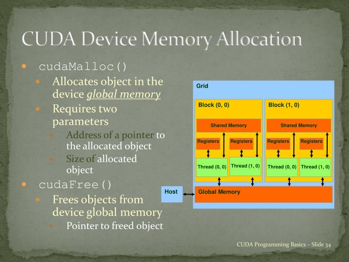 CUDA Device Memory Allocation