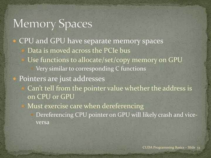 Memory Spaces