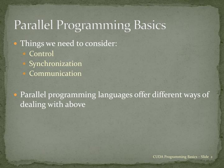 Parallel Programming Basics