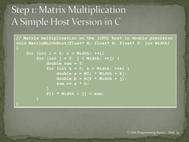 Step 1: Matrix Multiplication