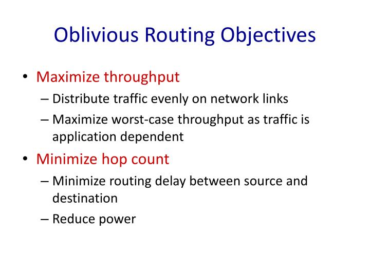 Oblivious Routing