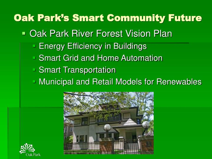 Oak Park's Smart Community Future