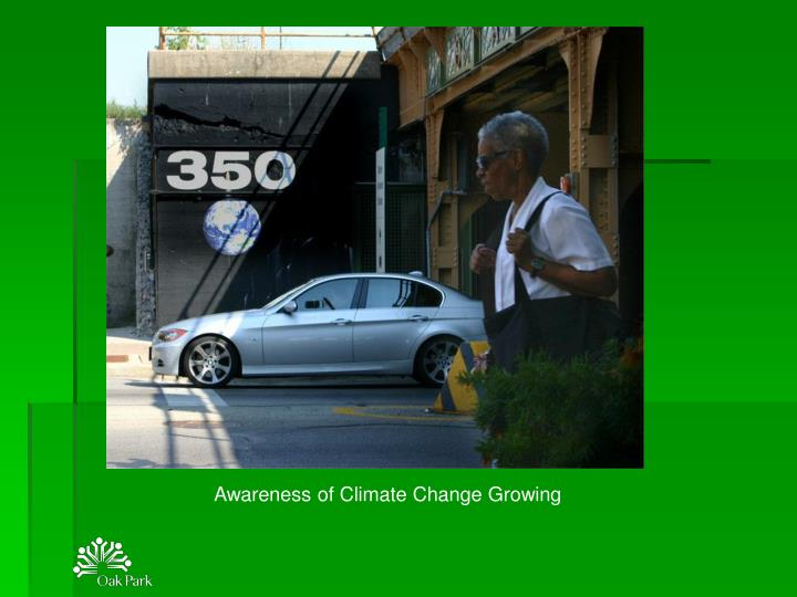Awareness of Climate Change Growing