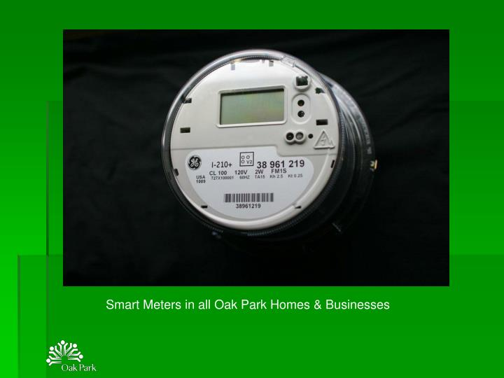 Smart Meters in all Oak Park Homes & Businesses