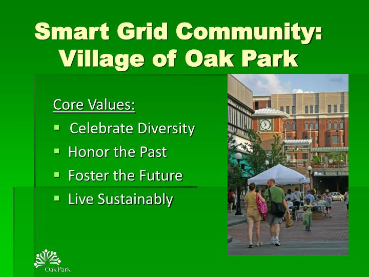 smart grid community village of oak park