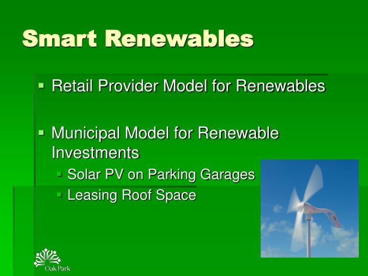 Smart Renewables