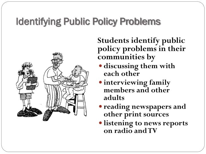 Identifying Public Policy Problems