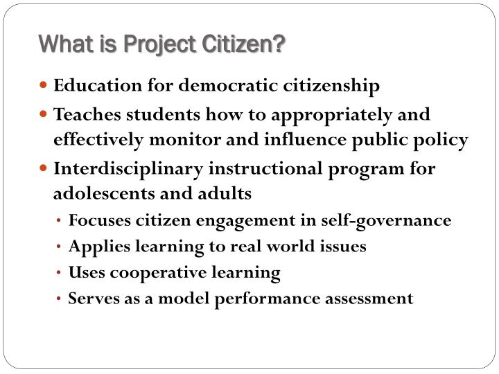 What is Project Citizen?