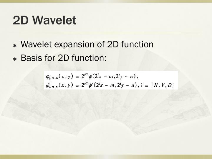 2D Wavelet