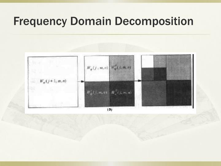 Frequency Domain Decomposition