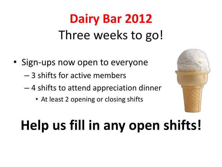 Dairy Bar 2012