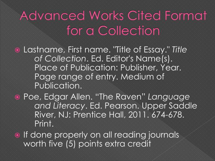 Advanced Works Cited