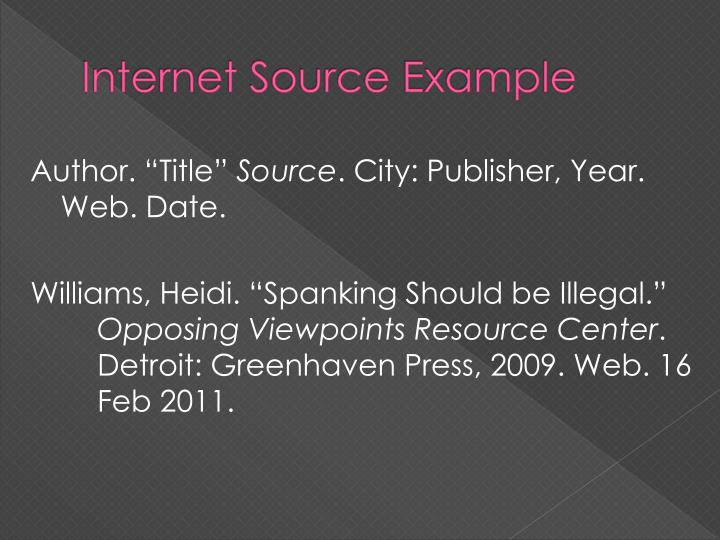 Internet Source Example