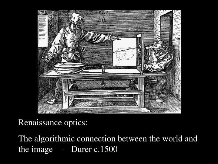 Renaissance optics: