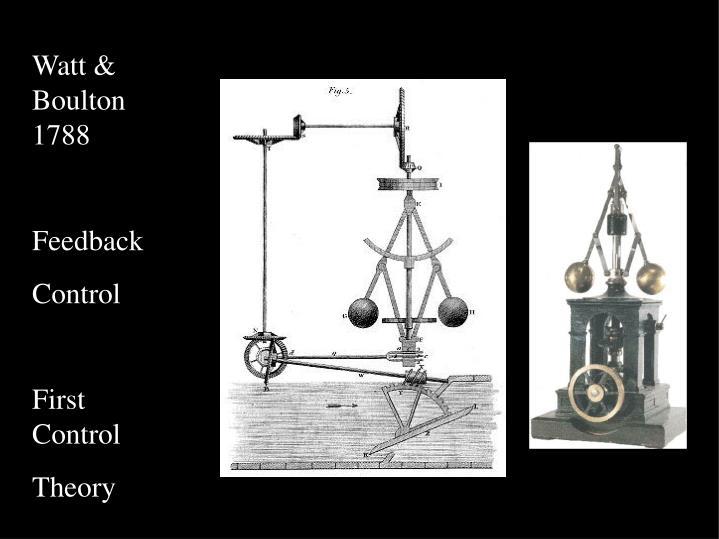 Watt &  Boulton 1788