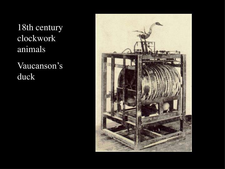 18th century clockwork animals