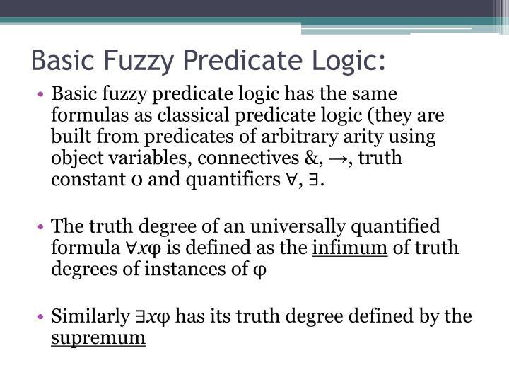 Basic Fuzzy Predicate Logic: