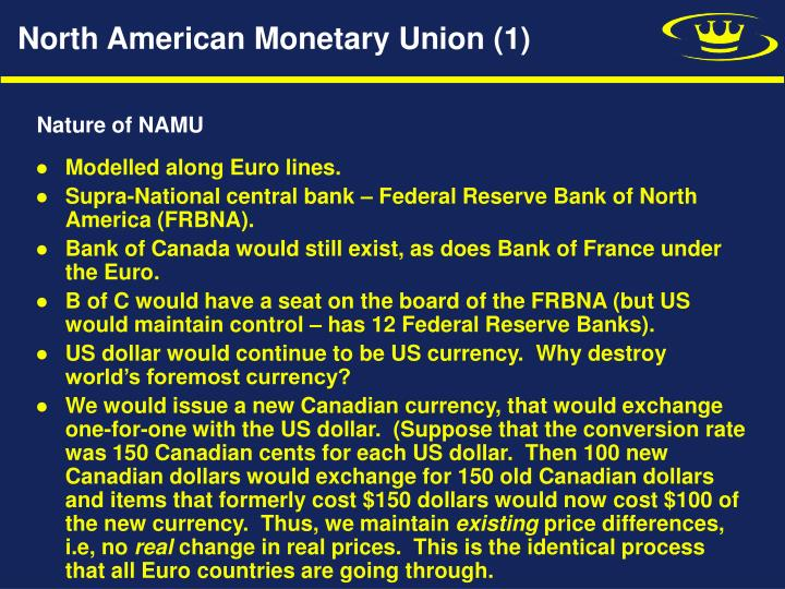 North American Monetary Union (1)