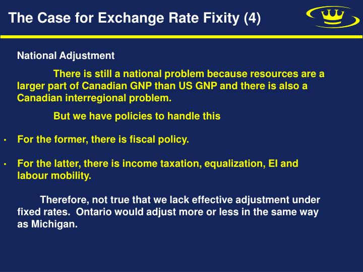 The Case for Exchange Rate Fixity (4)