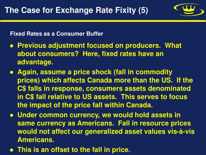 The Case for Exchange Rate Fixity (5)