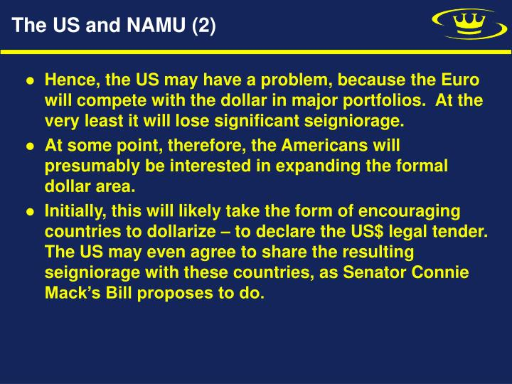The US and NAMU (2)