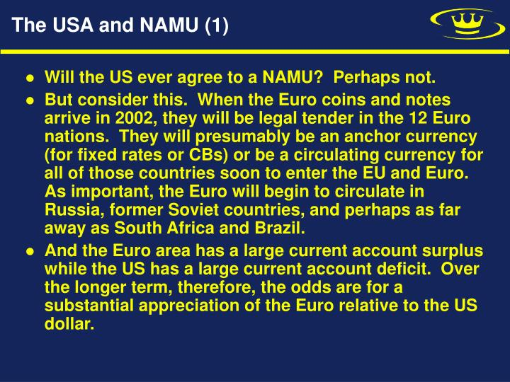 The USA and NAMU (1)