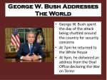 george w bush addresses the world
