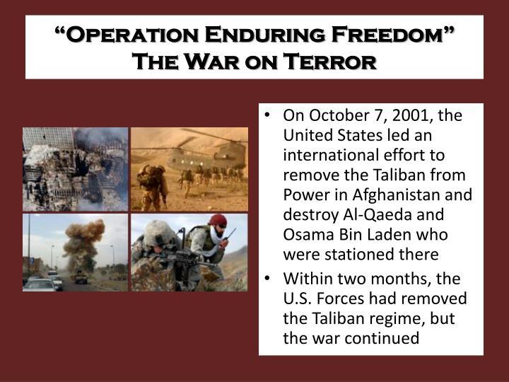 """""""Operation Enduring Freedom"""""""
