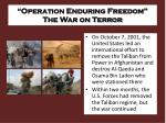 operation enduring freedom the war on terror