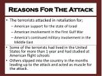 reasons for the attack
