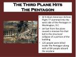 the third plane hits the pentagon