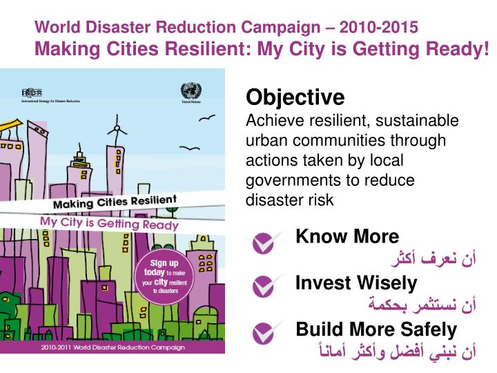 World Disaster Reduction Campaign – 2010-2015