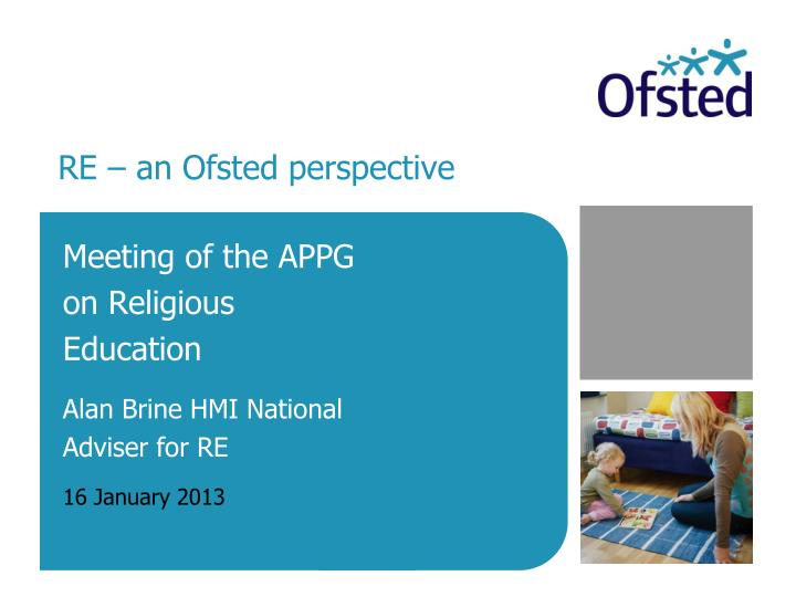 re an ofsted perspective