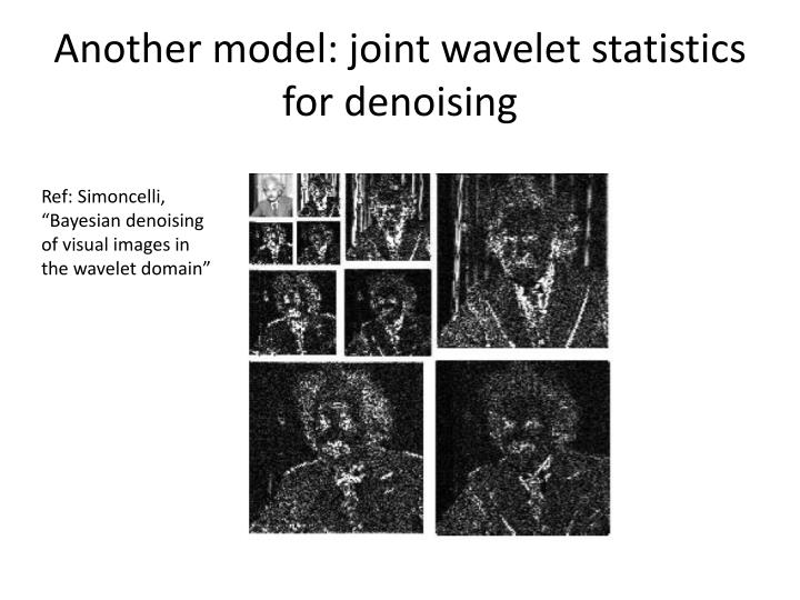 Another model: joint wavelet statistics for