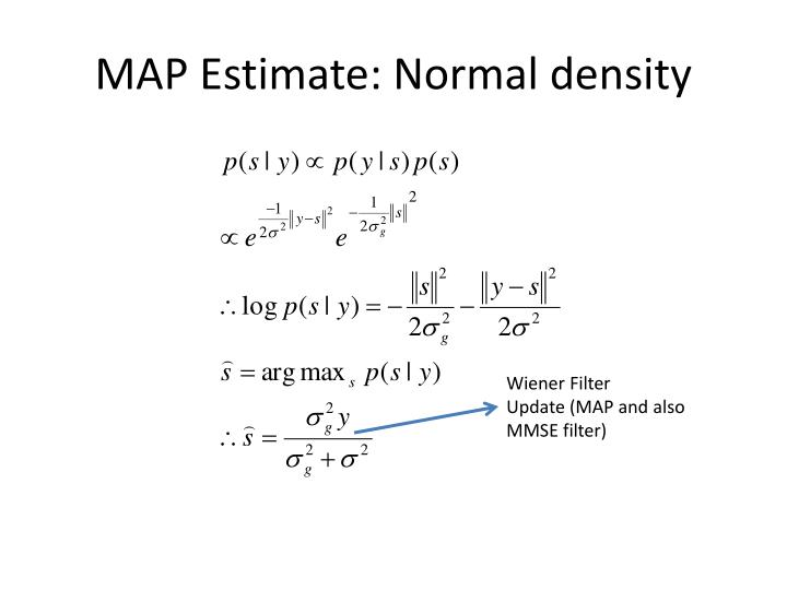 MAP Estimate: Normal density
