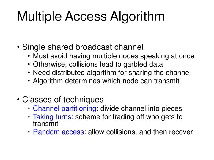 Multiple Access Algorithm
