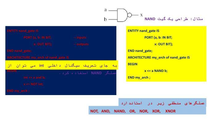 مثال: طراحی یک گیت