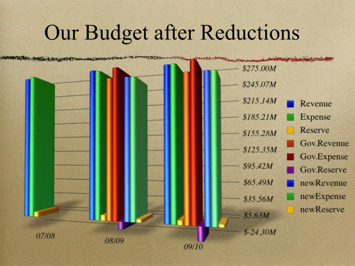 Our Budget after Reductions