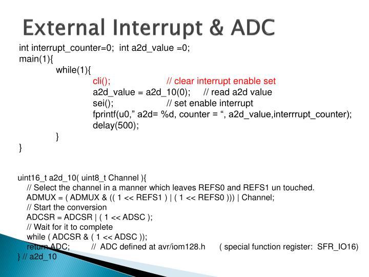 External Interrupt & ADC