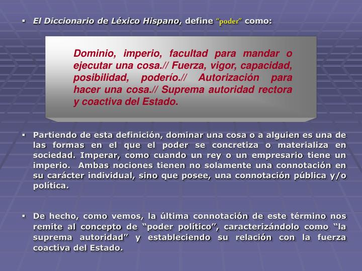 El Diccionario de Léxico Hispano