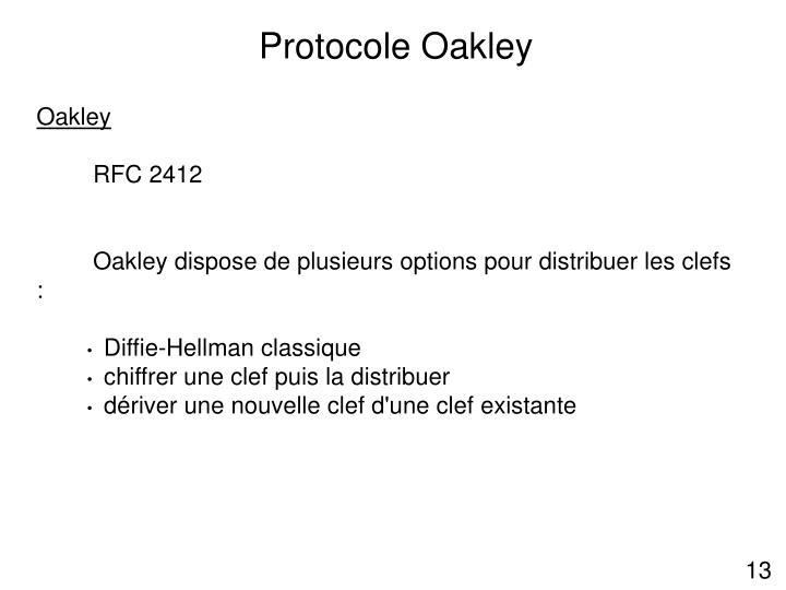 Protocole Oakley