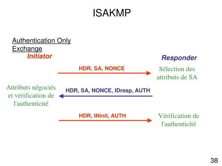 Sélection des attributs de SA