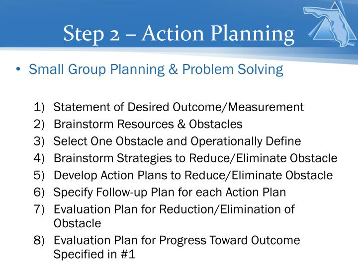 Step 2 – Action Planning