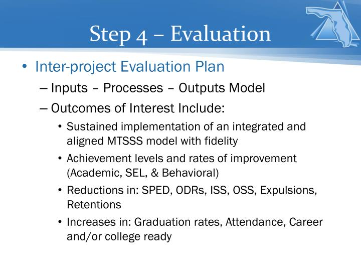 Step 4 – Evaluation