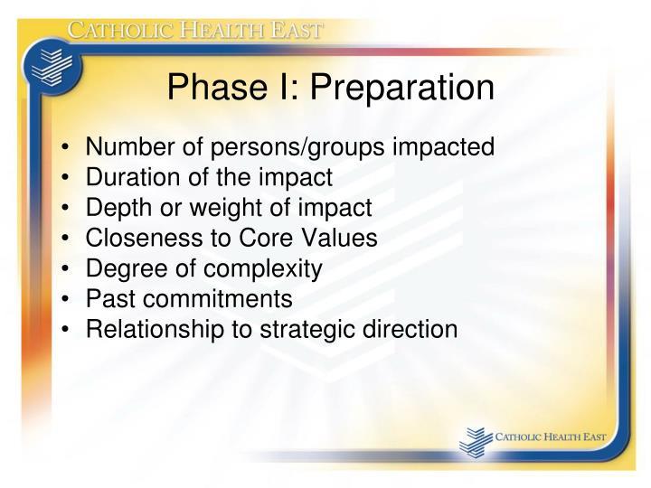 Phase I: Preparation